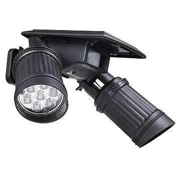 Juego de 14focos solares exteriores con bombillas LED, impermeables, 40 lú
