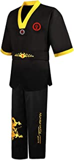 TiaoBug Kids Karate Uniform with White Belt Lightweight Student Outfit Training Clothing Suit