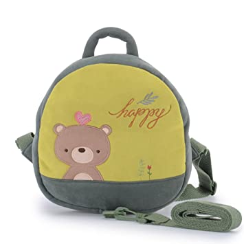 Amazon.com   Me Too Toddler Green Bear Safety Backpack with Leash 9.4  inches (Green)   Baby 0124d9ef2db90
