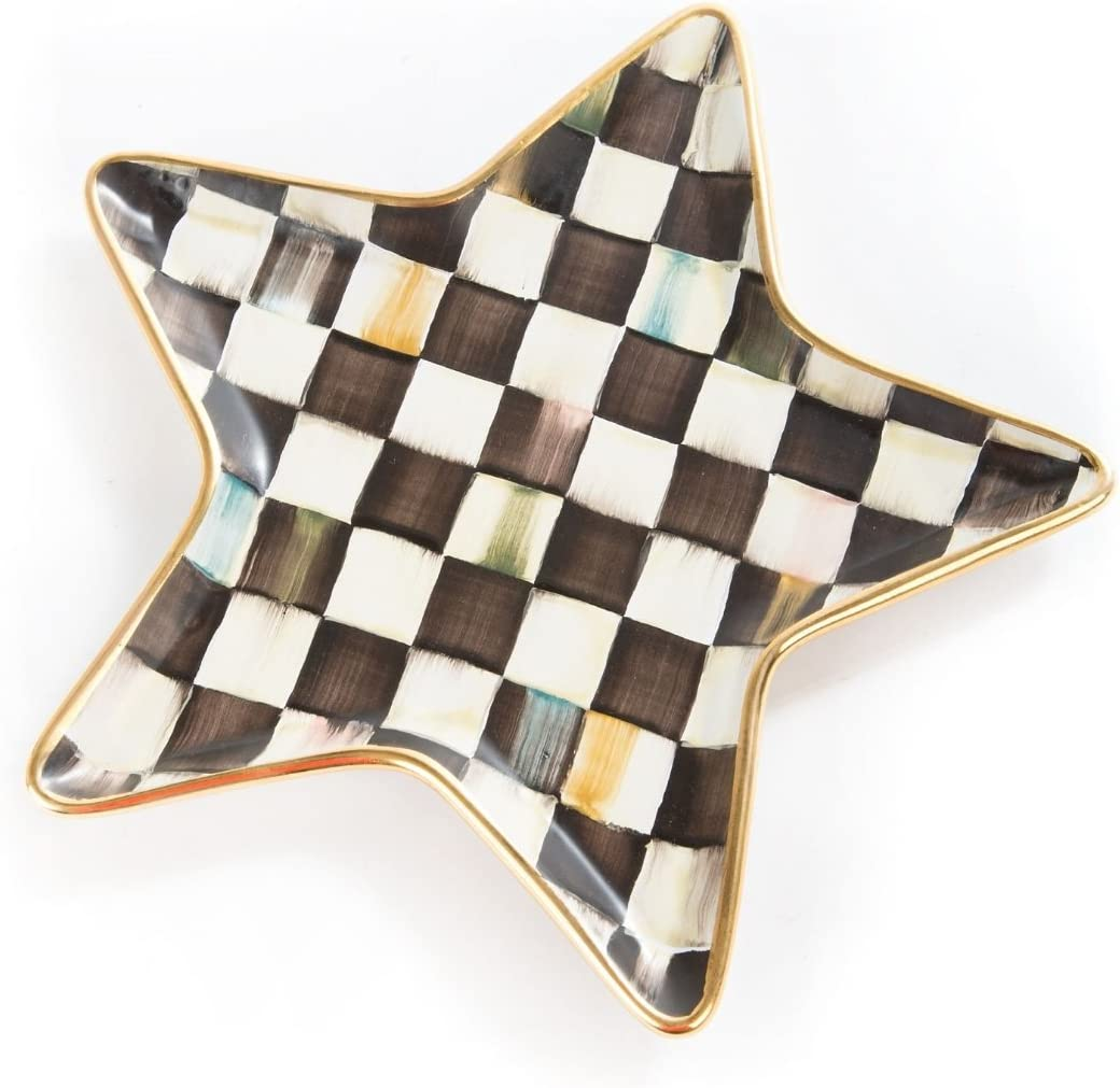 MacKenzie-Childs Courtly Check Star Plate