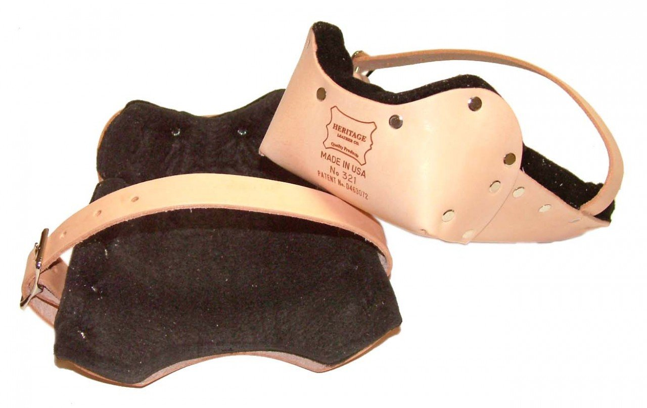 Heritage Leather 321 Easy Walk Double Felt Leather Knee Pads by Heritage Leather