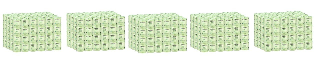 Marcal Pro Toilet Paper, 100% Recycled - 2-Ply, White, 500 Soft & Absorbent Sheets per Roll, 96 Rolls per Case - Green Seal Certified, Bulk Office Bath Tissue 05002 (5-(Pack))