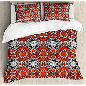 ETHNIC ASIAN INDIAN ELEPHANT PAISLEY SUPER KING DUVET COVER SET BLACK OR RED