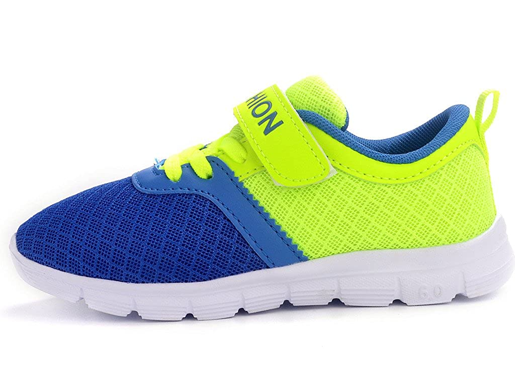 DADAWEN Boys Girls Casual Strap Breathable Light Weight Sneakers Play Running Shoes 10073