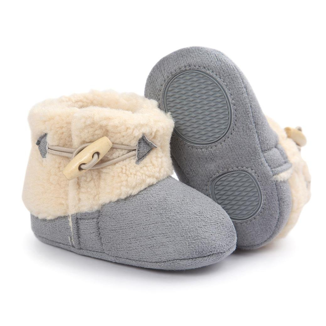 Voberry Baby Toddler Girls Boys Winter Warm Snow Boot Fur Trimmed Boots Outdoor