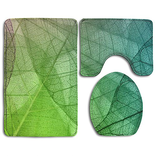BesHomes Fresh Plant Leaf Veins Skidproof Toilet Seat Cover