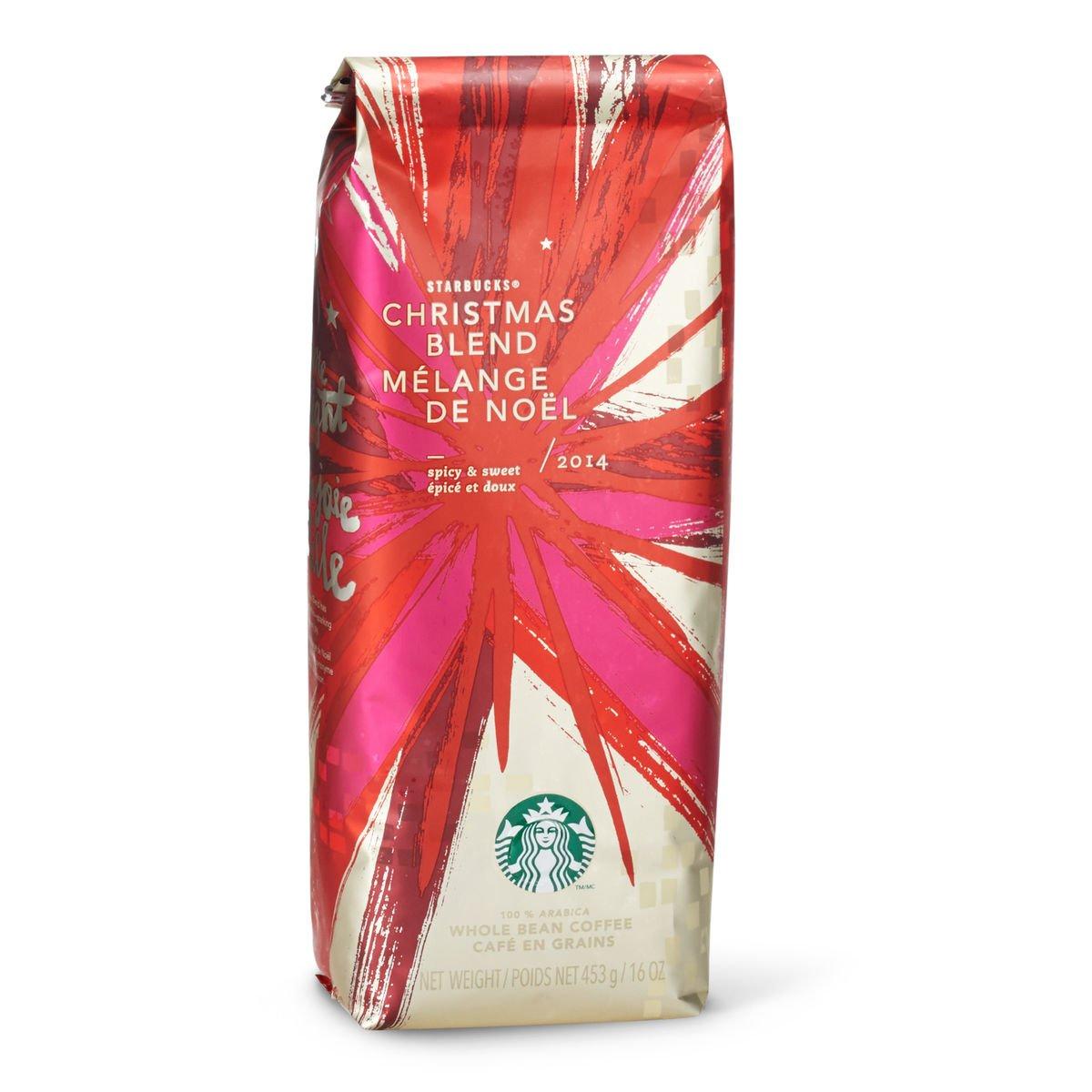 7b195124430 Amazon.com : 2014 Starbucks Christmas Blend Whole Bean Coffee - 1 Lb  (11002758) : Grocery & Gourmet Food