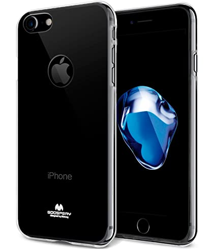 more photos 07d08 5ad67 GOOSPERY iPhone 7 Case, [Thin Slim] [Flexible] Clear Jelly Rubber TPU Case  [Lightweight] Bumper Cover [Impact Resistant] for iPhone 7 (Clear) ...