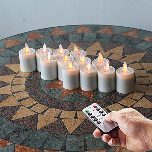Classic Pillar Real Flame Effect Flameless Led Tealight