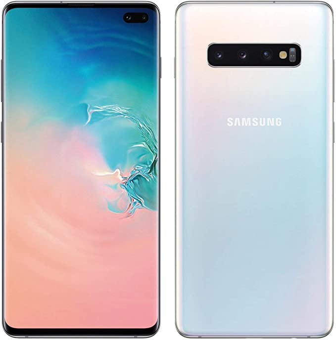 Amazon Com Samsung Galaxy S10 128gb 8gb Ram Sm G973f Ds Dual Sim 6 1 Lte Factory Unlocked Smartphone International Model No Warranty Prism White