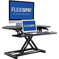 FLEXISPOT M7C - Convertidor de computadora de pie con Bandeja Profunda para computadora portátil (36 Pulgadas)