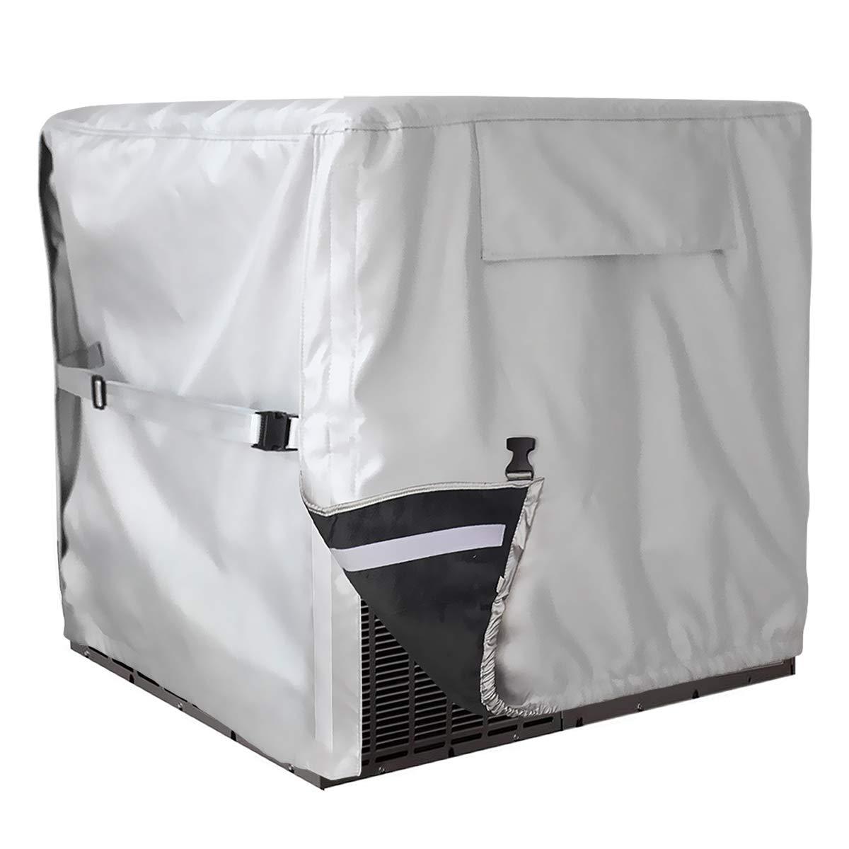 Veranda Air Conditioner AC Units Cover Square Outdoor Protect Waterproof Pebble
