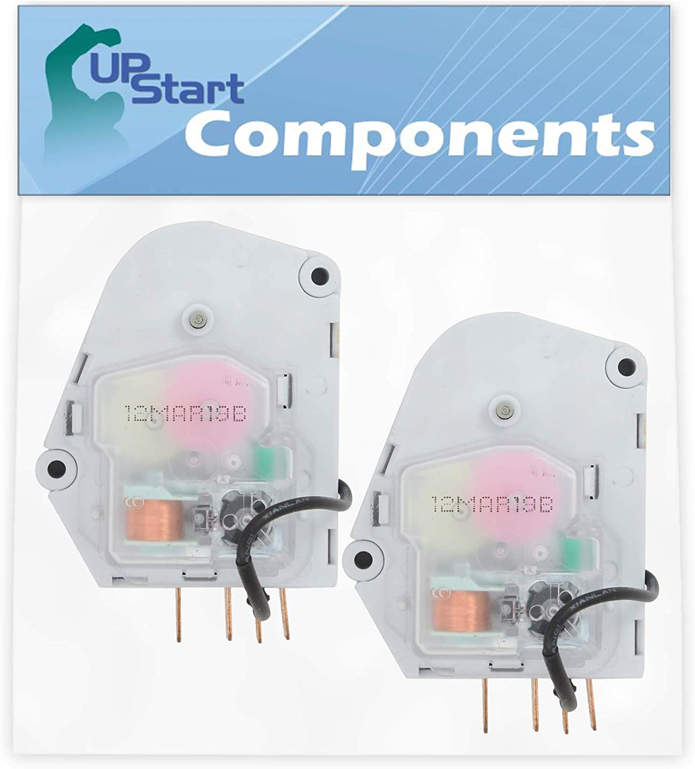 2-Pack W10822278 Refrigerator Defrost Timer Replacement for Estate TS22CFXTQ00 Refrigerator - Compatible with 482493 Defrost Timer - UpStart Components Brand