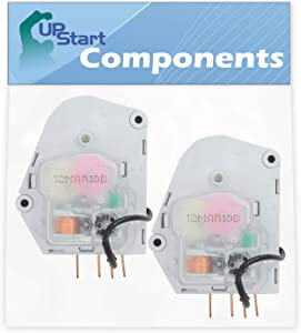 2-Pack W10822278 Refrigerator Defrost Timer Replacement for Whirlpool ET1CHMXKQ03 Refrigerator - Compatible with 482493 Defrost Timer - UpStart Components Brand