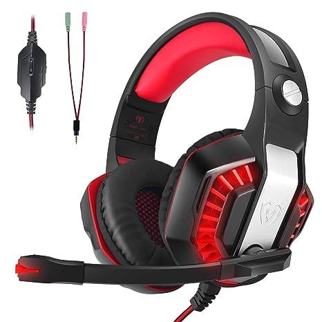 Auriculares Gaming, LATEC Estéreo PS4 Cancelación De Ruido Gaming Headset para PC, Controlador de