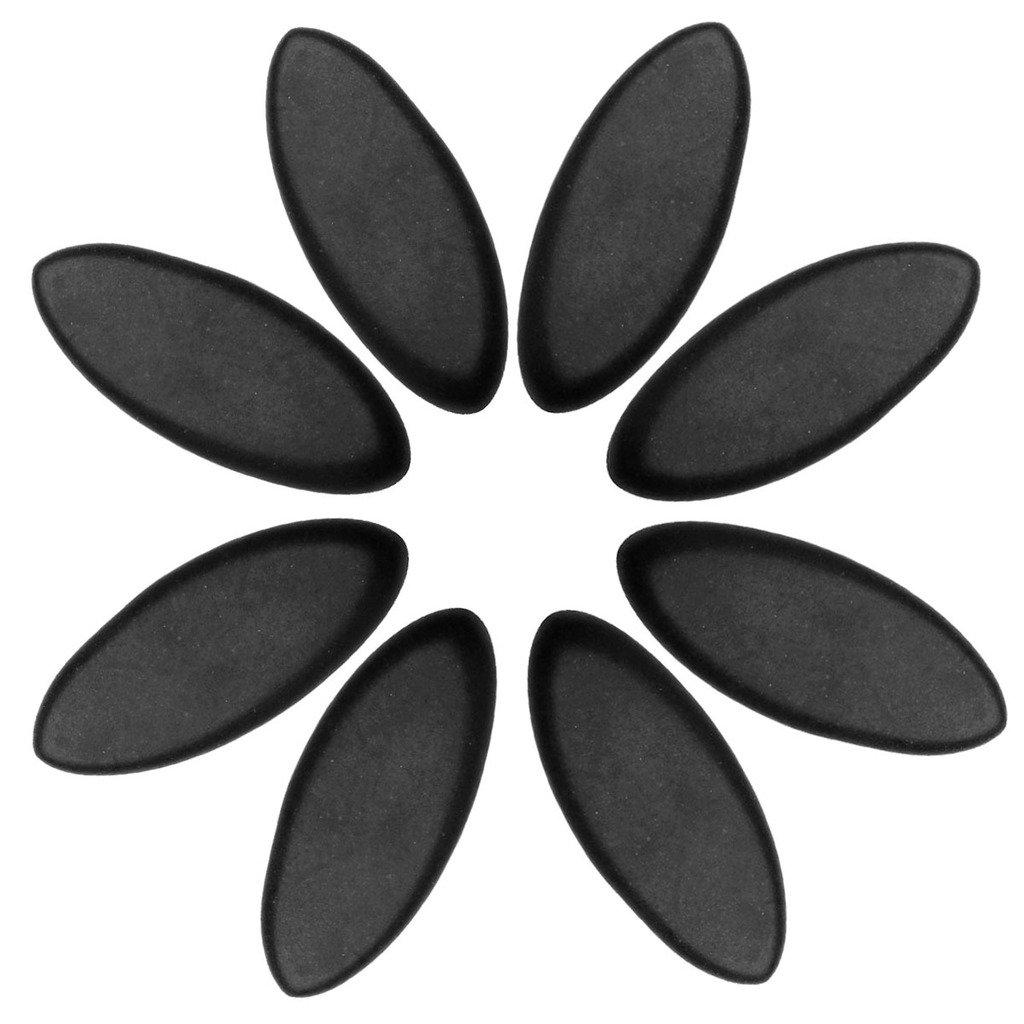 QGEM 8 PCS Professional Basalt Lava Rock Hot Stone Massage Set, Size-0.98 * 2.28'',Marquise Shaped