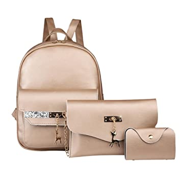 18d8fe394a9 Amazon.com  AIMTOPPY Bags, Fashion Woemn Leather Small Deer Backpack ...