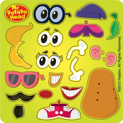 Mr Potato Head Make Your Own Spud Stickers - Party Favors - 100 per -