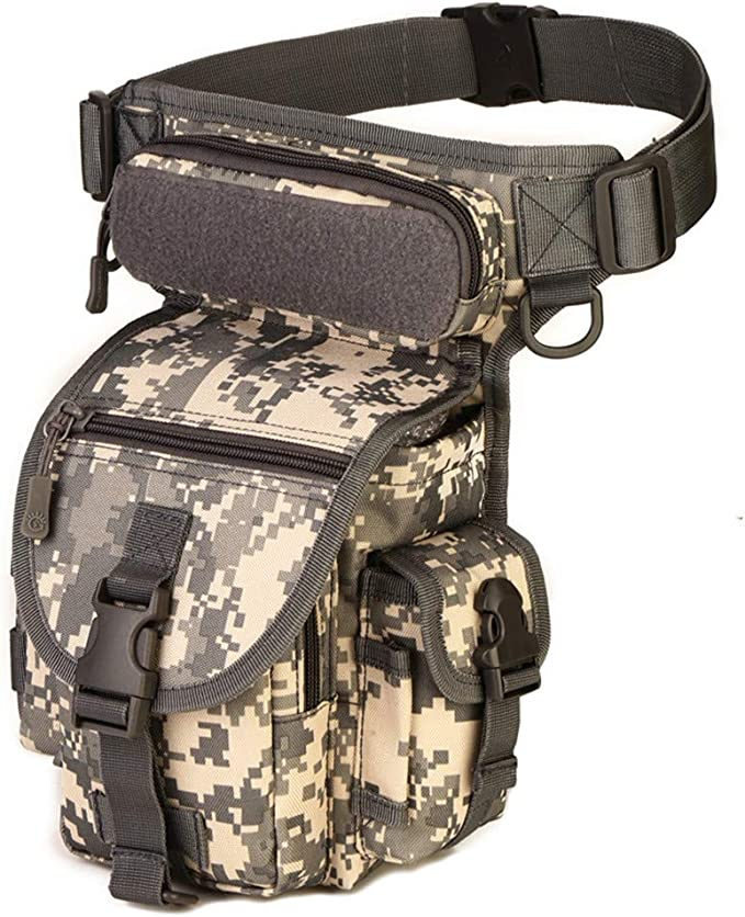 InJoy Multi-purpose Tactical Drop Leg Bag Tool Fanny Thigh Pack Leg Rig Military Motorcycle Camera Versipack Utility Pouch Black//Brown//Army Green Available