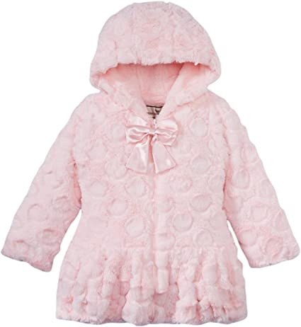 Widgeon Little Girls Twirl Bottom Coat with Hat