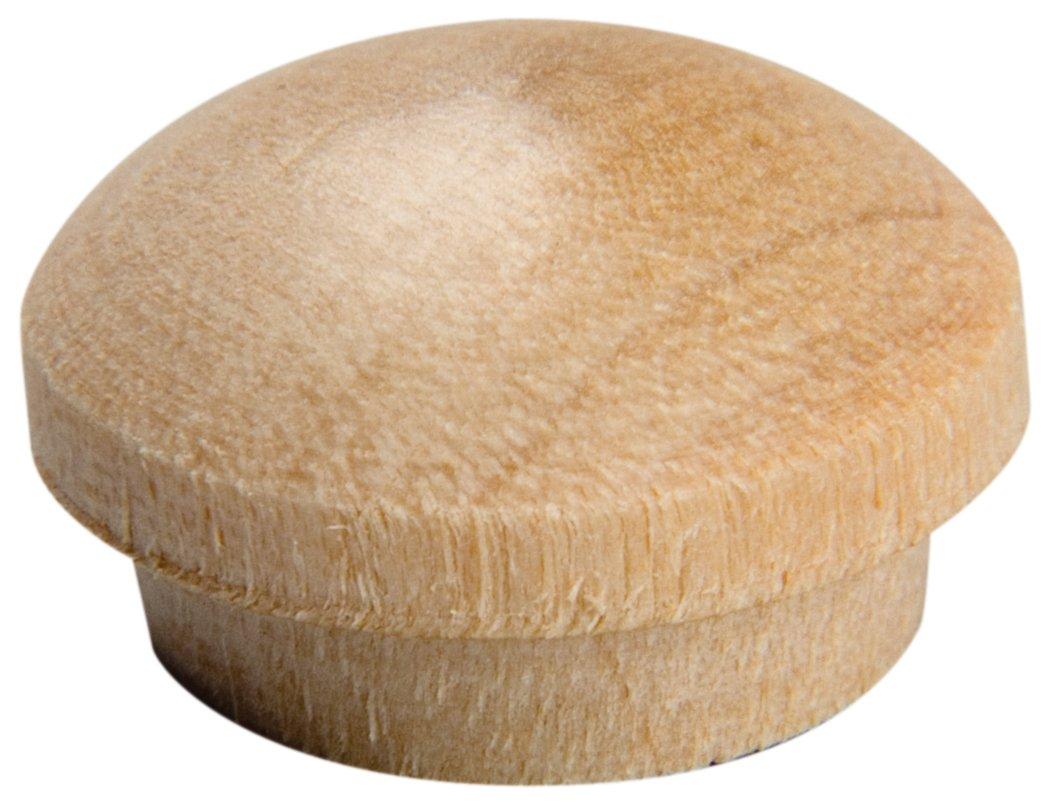 Waddell 8400.50 Oak DP 12 Count Oak Wooden Button Head Plugs, 1/2'