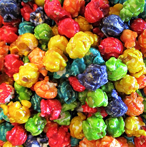 Gourmet Rainbow Coated Popcorn by Its Delish (16 oz) One Pound ()