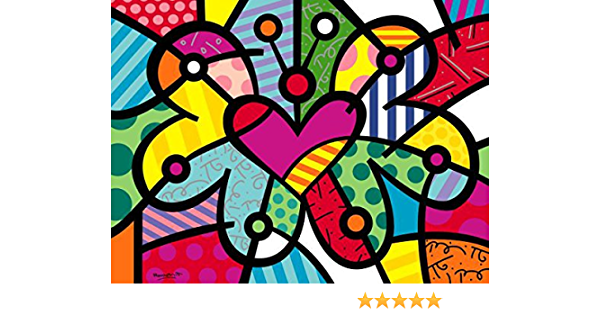 The Apple by Romero Britto Abstract Print 11x14