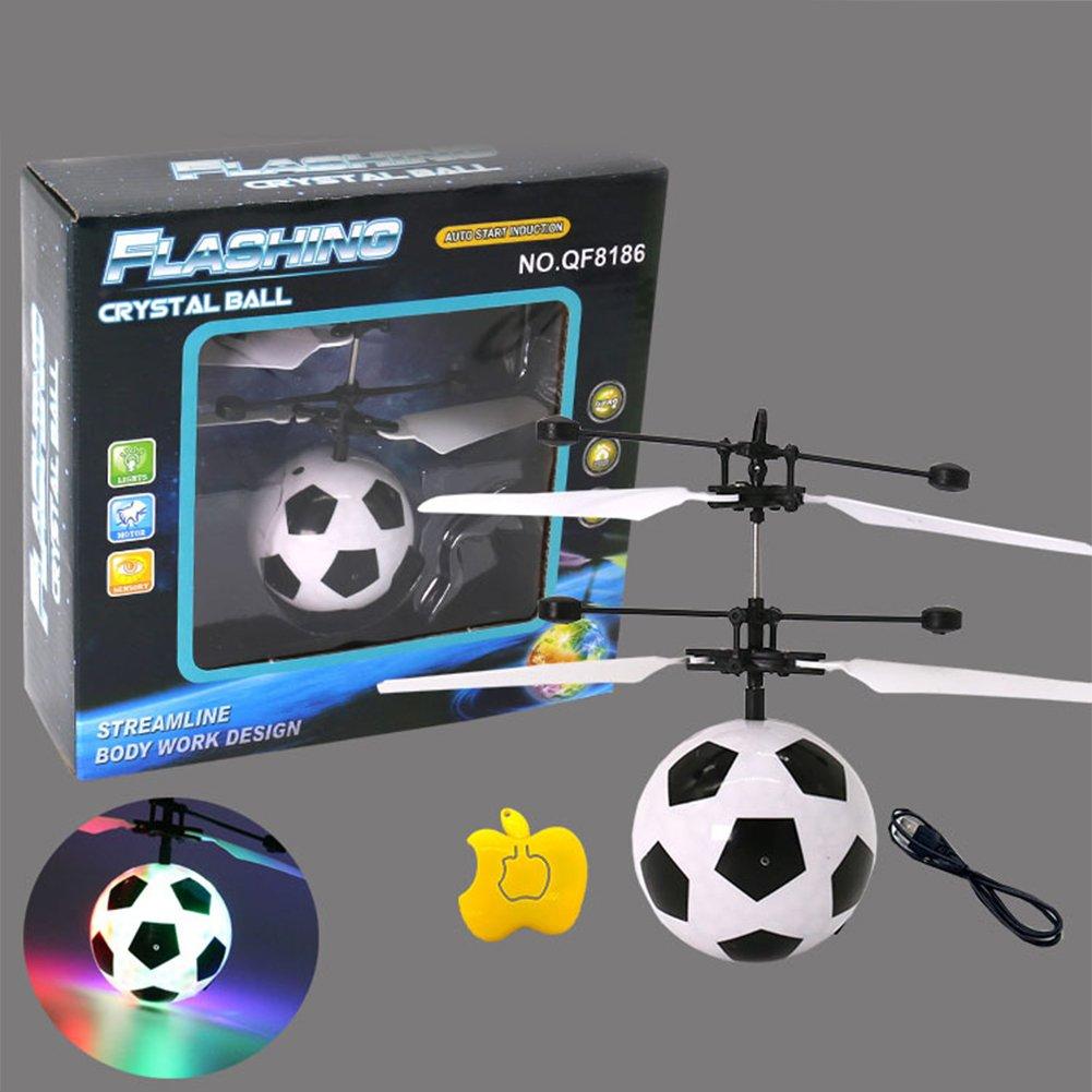 ZANTEC Giocattolo Bambino Palla LED RC Drone Giocattolo elicottero induzione ad infrarossi per aeromobili Adolescente Accessori e parti di ricambio per giochi telecomandati Aerei Flying Ball