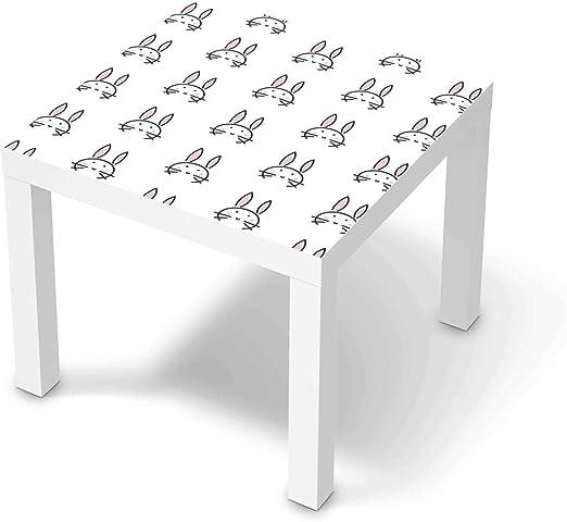 creatisto Möbel Klebefolie für Kinder passend für IKEA Lack Tisch 55x55 cm I Tolle Möbelsticker für Kinderzimmer Einrichtung I Design: Hoppel