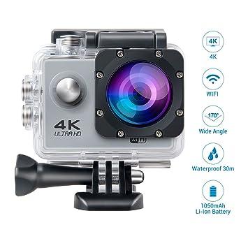 Topjoy F60 4K Ultra HD cámara de Deportes de acción WiFi ...