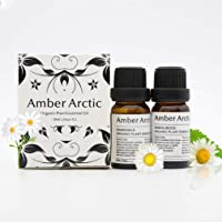 AMBER ARCTIC Sandalwood Chamomile Essential Oil for Diffuser, 100% Pure Fresh Organic Plant Therapy Sandalwood Chamomile Oil 10MLx2