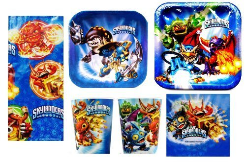 Skylanders Deluxe Party Package for 8 Guests + 16oz Keepsake Plastic Cup by Hallmark -