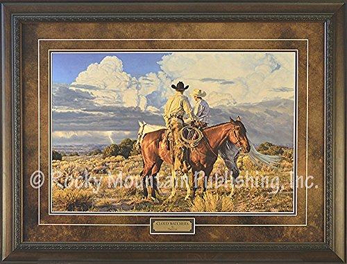 Tim Cox Cloud Watchers Limited Edition Artist Signed Numbered Custom Framed Art - Signed Framed Artist