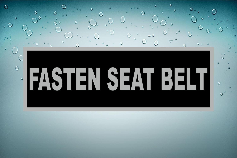 Akachafactory Selbstklebend Sticker Auto Flugzeug Luftfahrt Aeroport Fasten Seat Belt Auto