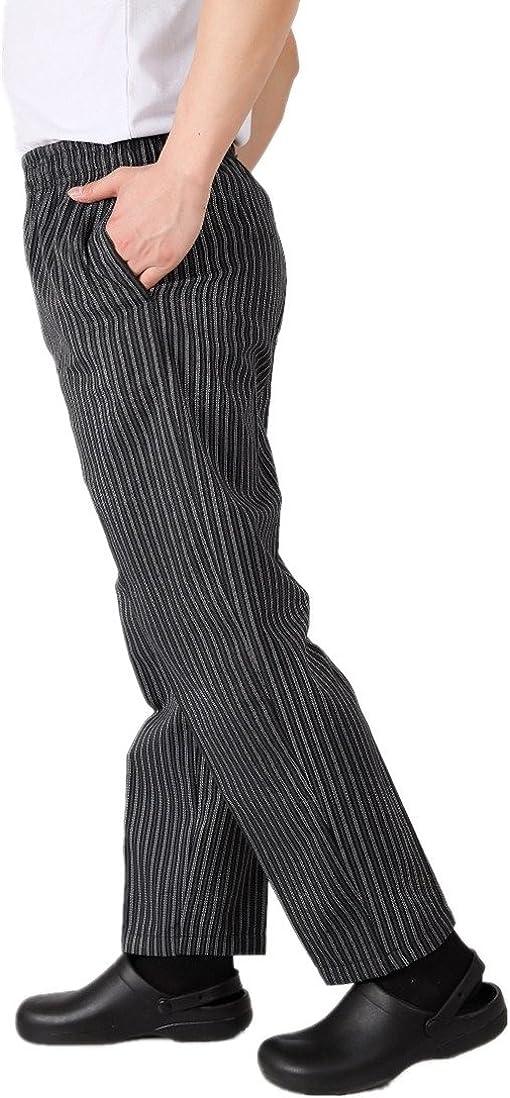 WAIWAIZUI Pantaloni da Chef Nero