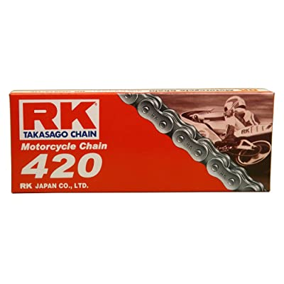 RK Racing Chain M420-112 (420 Series) 112-Links Standard Non O-Ring Chain with Connecting Link: Automotive