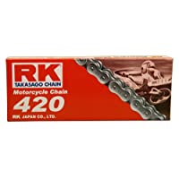 RK Racing Chain M420-124 (420 Series) 124-Links Standard Non O-Ring Chain with Connecting Link