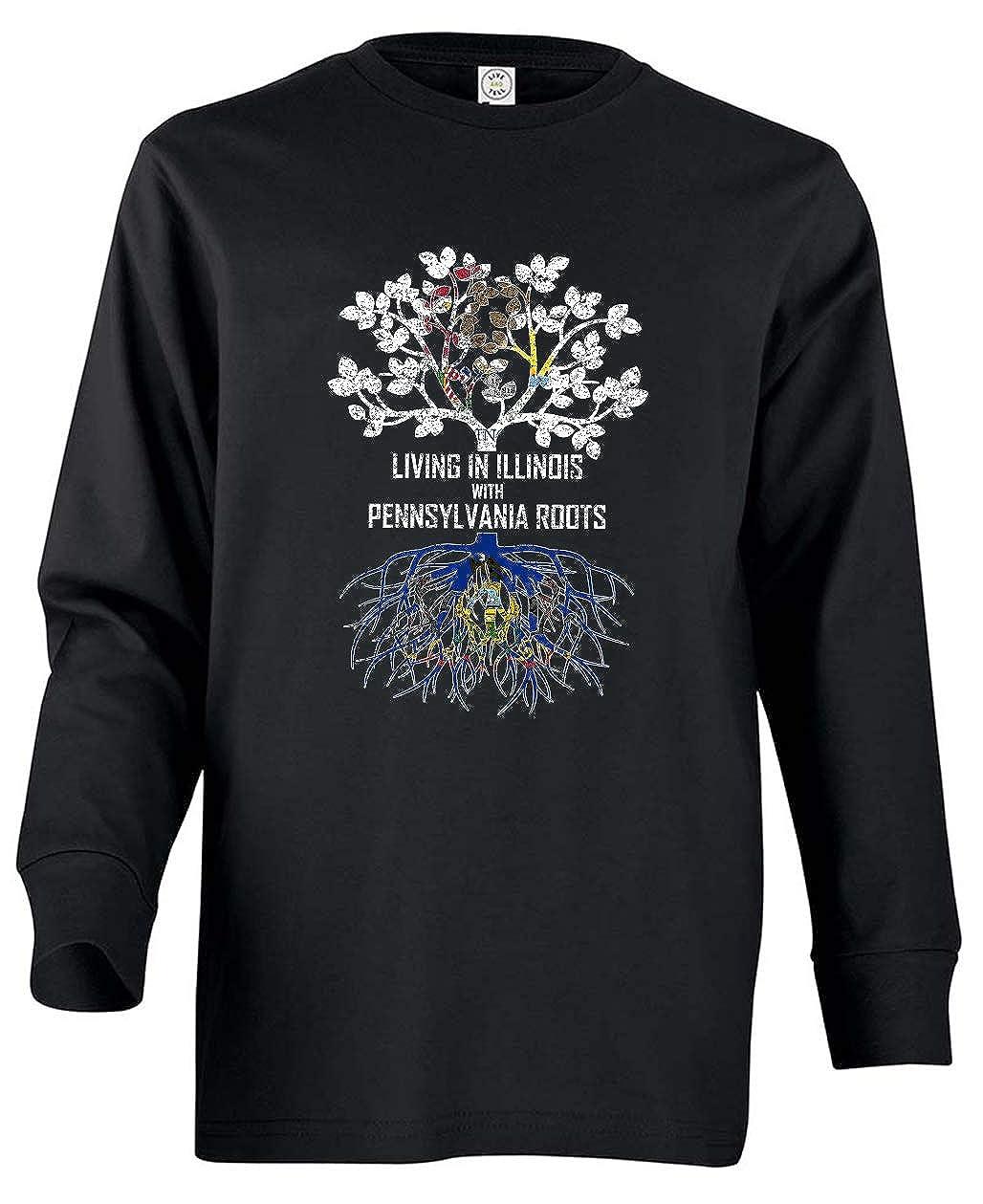 Tenacitee Babys Living in Illinois Pennsylvania Roots Shirt