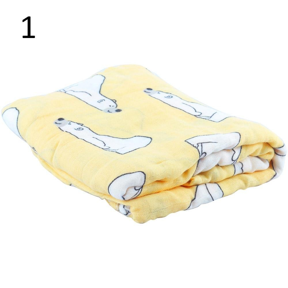 Frueaduy Multi-use Newborn Bed Sheet Bath Towel Swaddle Baby Blanket Infant Wrap