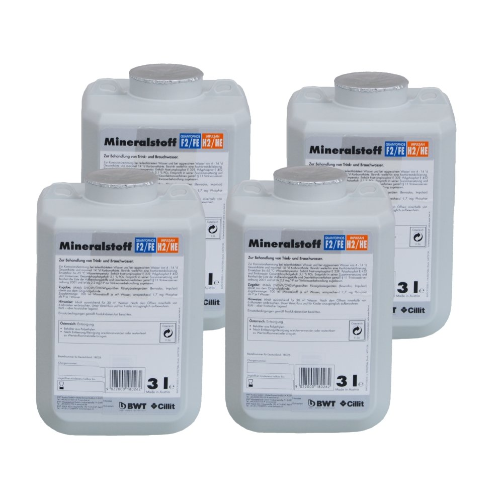 BWT Mineralstoff Cillit -Quantophos/Impulsan 4 x 3 l Kanister FE/HE