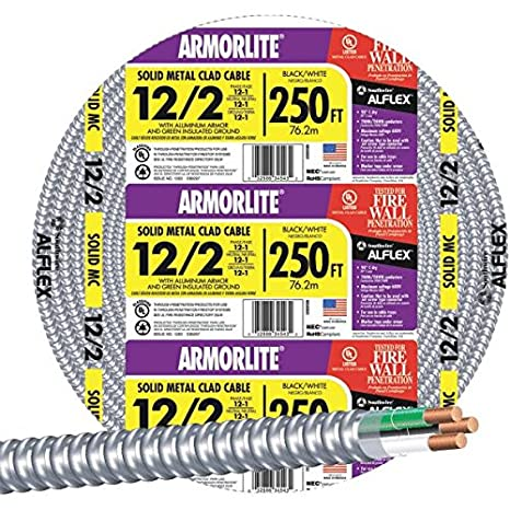 Amazon.com: Southwire 68580055 12/2 Aluminio Armored Cable ...