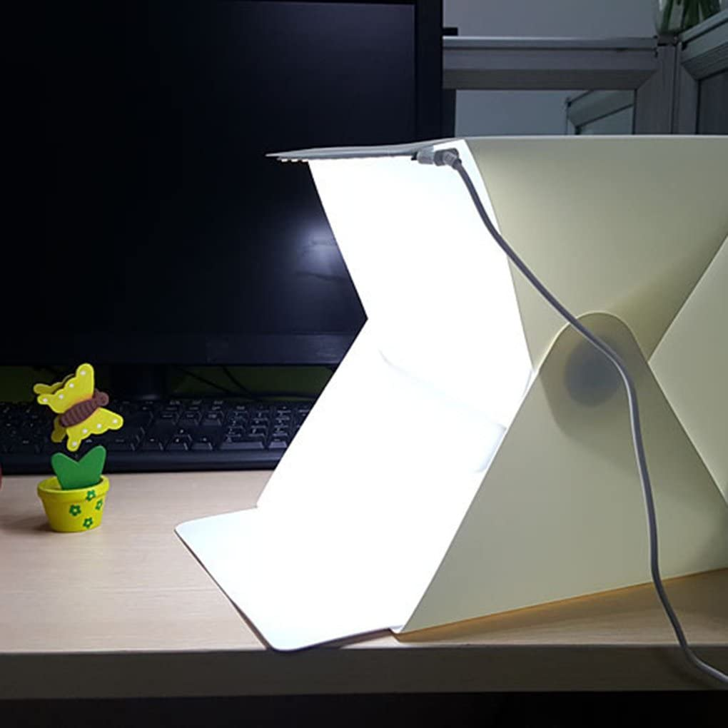 Portable Photo Studio Table Top Light Tent Comfy Portable Still Life Soft Light Box,Foldable Cube with 5-Color Background Cloth etateta 40CM Shed Jewelry Photography Light Box Softbox