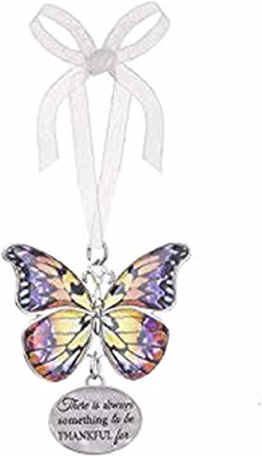 Always Something to be Thankful for EA13546 Ganz Home Decor Christmas//Spring Blissful Journey Butterfly Ornament
