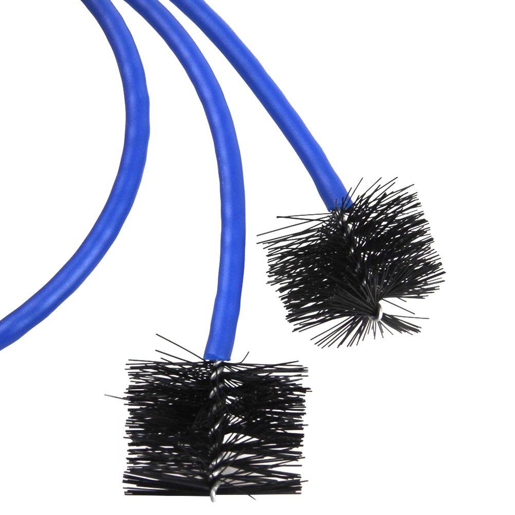 Pixnor 3pcs Kit di Pulizia per Tromba Pennello Boccaglio, Pennello Valvola, Spazzola Flessibile