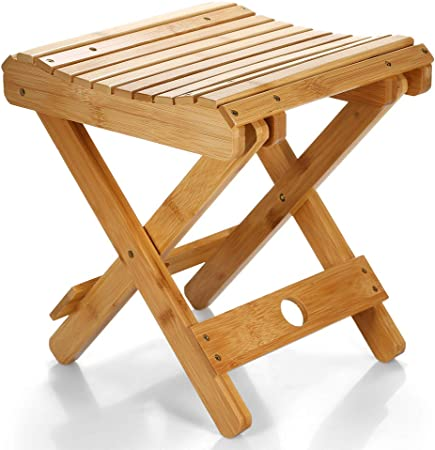 Small Chair Natural Bamboo Folding Chair Folding Stool Mini Chair Portable Chair Collapsible Chair Folded Seat Small Folding Seat Skip Fold Away Chair Walmeck
