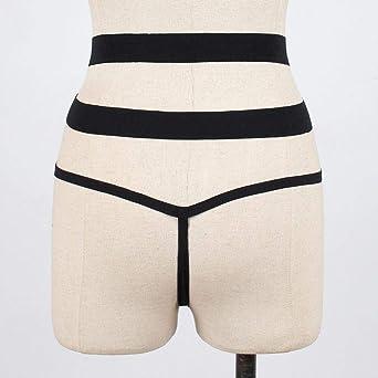 DEELIN Ropa Interior Atractiva De Las Mujeres G-Pants Bragas De Malla Bragas Bragas T-Pants Tangas Correa Bragas Negras(S-XL) (S, Negro): Amazon.es: Ropa y accesorios