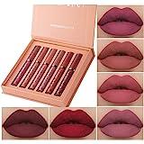 6Pcs Matte Liquid Lipstick Makeup Set, Matte liquid Long-Lasting Wear Non-Stick Cup Not Fade Waterproof Lip Gloss (Set A…