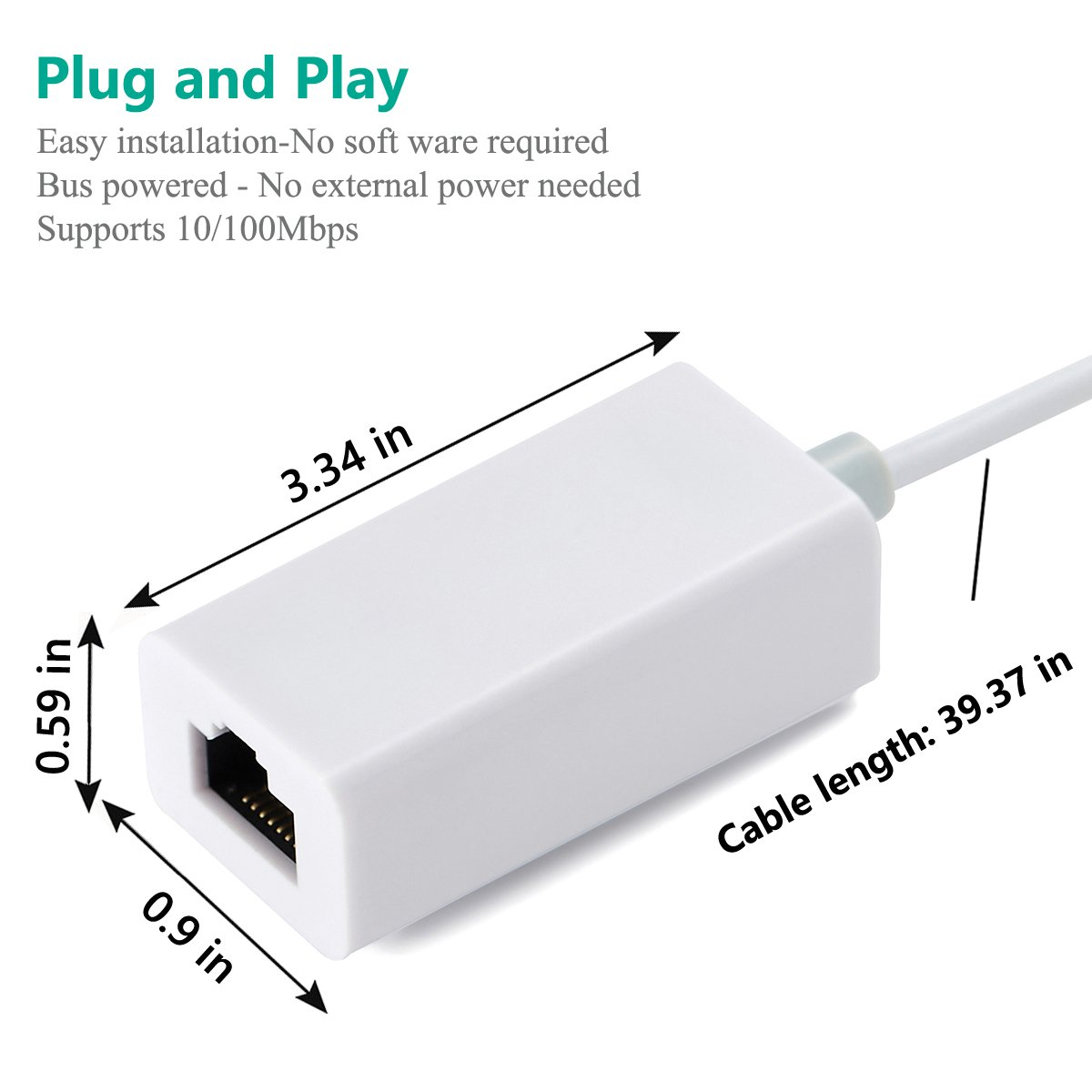 Lightning To Rj45 Ethernet Lan Wired Network Adapter For 100 Mbps Wiring Diagram Iphone And Ipad Plug Play No App Required Computers Accessories