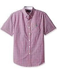 U.S. Polo Assn. Men's Classic Fit Single Pocket Stripe, Plaid Or Print Sport Shirt