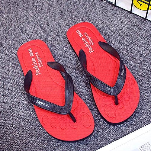 in antiscivolo tendenza outdoor estate tempo beach per 44 fankou rosso uomini pantofole il L gomma libero studente cool in x5470wq
